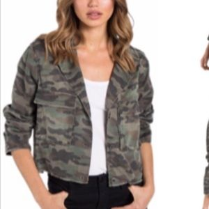 Cloth & Stone cropped military jacket NWOT